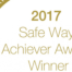 This is a picture of the 2017 Safe Way Achievery Award given to Monford Group by Safe Way.