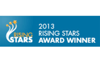 This picture is of the 2013 Rising Stars Award received by Monford Group