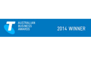 This is a picture of an award given to the Monford Group from Telstra to nominate Monford Group as the 2014 Winner of the Australian Business Awards.